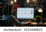 beautiful female mobile video... | Shutterstock . vector #1013448823