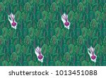 plant seamless pattern of beet... | Shutterstock .eps vector #1013451088