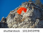 Figure Of The Base Jumper At...