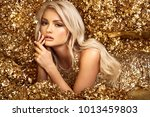 beautiful blonde woman in... | Shutterstock . vector #1013459803