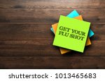 get your flu shot  the phrase... | Shutterstock . vector #1013465683