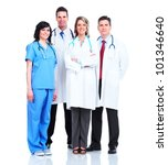 medical doctors group. isolated ... | Shutterstock . vector #101346640