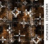 seamless pattern ethnic design. ...   Shutterstock . vector #1013468464