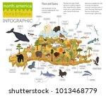 isometric 3d north america... | Shutterstock .eps vector #1013468779