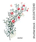 vector illustration of branch... | Shutterstock .eps vector #1013473240