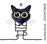 cartoon tender funny cat   Shutterstock . vector #1013473828