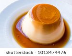 homemade creme caramel with... | Shutterstock . vector #1013474476