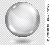 big translucent gray sphere... | Shutterstock .eps vector #1013475499
