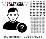 pitiful user status pictograph... | Shutterstock .eps vector #1013478268