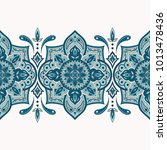 floral indian paisley pattern... | Shutterstock .eps vector #1013478436