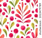 cute decorative hand painted... | Shutterstock . vector #1013479789