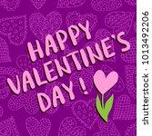 happy valentine's day greeting... | Shutterstock . vector #1013492206