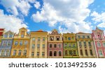colorful houses in old town in...   Shutterstock . vector #1013492536