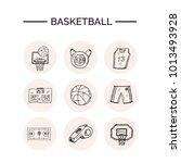 basketball hand drawn doodle... | Shutterstock .eps vector #1013493928