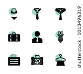suit icons. vector collection...