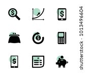 money icons. vector collection...