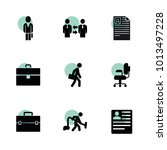 job icons. vector collection... | Shutterstock .eps vector #1013497228