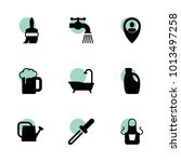 drop icons. vector collection...