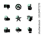 finger icons. vector collection ...