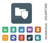data icons. vector collection... | Shutterstock .eps vector #1013497300