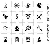 science icons. vector...