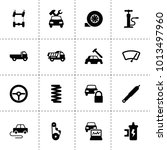 automobile icons. vector... | Shutterstock .eps vector #1013497960