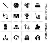 team icons. vector collection...