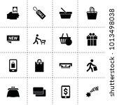 shopping icons. vector...