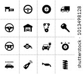 automobile icons. vector...