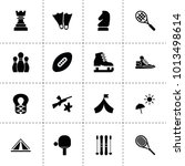 recreation icons. vector... | Shutterstock .eps vector #1013498614