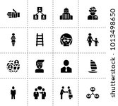 people icons. vector collection ... | Shutterstock .eps vector #1013498650