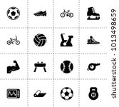 exercise icons. vector...