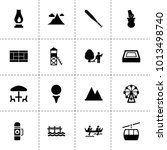 outdoor icons. vector...