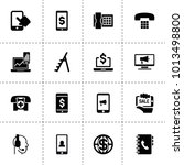 phone icons. vector collection... | Shutterstock .eps vector #1013498800