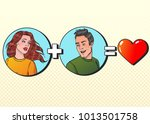 woman plus man equal love.... | Shutterstock .eps vector #1013501758