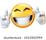 peace emoji isolated on white... | Shutterstock . vector #1013502994