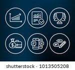 set of smartphone sms  chart... | Shutterstock .eps vector #1013505208