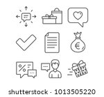 set of person talk  gifts and... | Shutterstock .eps vector #1013505220