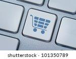 Shopping Cart Symbol At The...