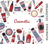 cosmetic. vector background for ... | Shutterstock .eps vector #1013509360