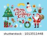 funny christmas stickers. santa ...   Shutterstock . vector #1013511448