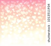 valentines background with... | Shutterstock . vector #1013511934