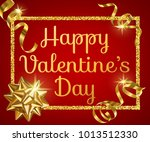 valentines day greeting card... | Shutterstock . vector #1013512330