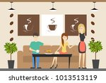 people at coffee shop. people...   Shutterstock . vector #1013513119