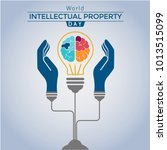 world intellectual property day ... | Shutterstock .eps vector #1013515099