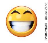 happy emoji isolated on white... | Shutterstock . vector #1013517970