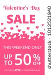 valentines day sale background... | Shutterstock . vector #1013521840
