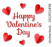 valentines day greeting card... | Shutterstock . vector #1013521858