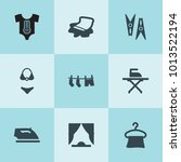 set of 9 cloth filled icons... | Shutterstock .eps vector #1013522194