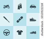 set of 9 sport filled icons... | Shutterstock .eps vector #1013522218